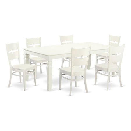 East West Furniture Logan 7 Piece Modern Mission Dining Table Set