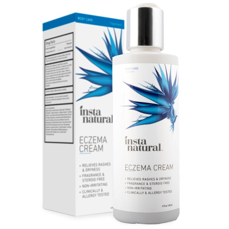 InstaNatural Eczema cream – Anti Itch Treatment & Redness Relief From The Irritation Of Psoriasis & Rosacea – Natural Moisturizing Lotion