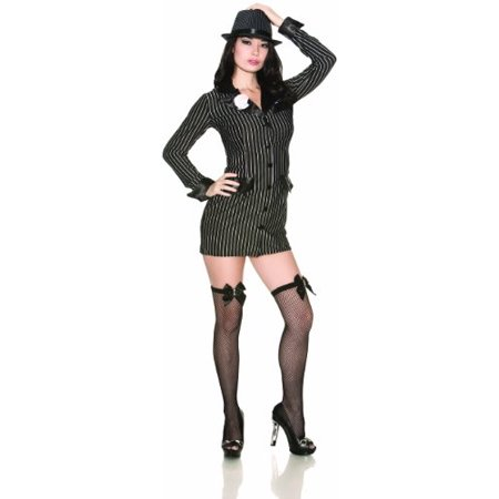 Delicious Brand Halloween Costumes (Delicious Allie Capone Costume, Black/White,)