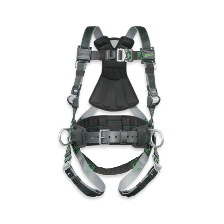 Miller by Honeywell Universal DualTech Revolution Full Body Style Harness With Back And Side D-Ring And Pad, Quick Connect Chest And Leg Strap Buckle, Sub-Pelvic Strap And Removable Belt