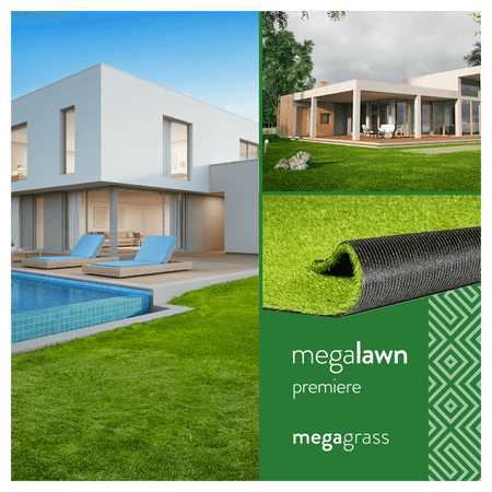MegaGrass MegaLawn Premiere 20 x 59 in Artificial Grass for Pet Lawn and Landscaping Indoor/Outdoor Area - Hatteras Rug