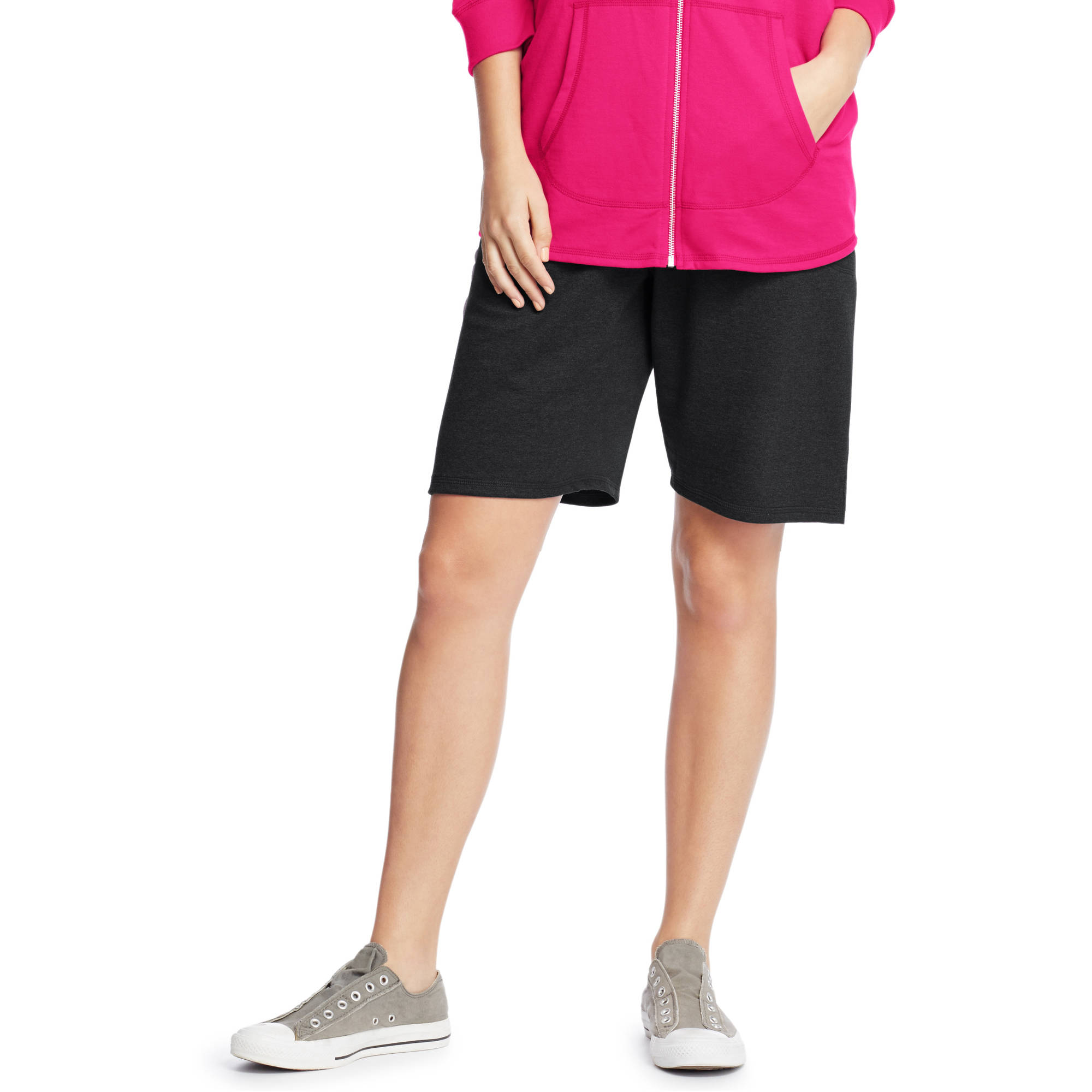Just My Size Women's Plus-Size French Terry Bermuda Pocket Short