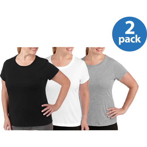 Danskin Now Women's Plus-Size Dri-More Workout Crew Tee 2-Pack