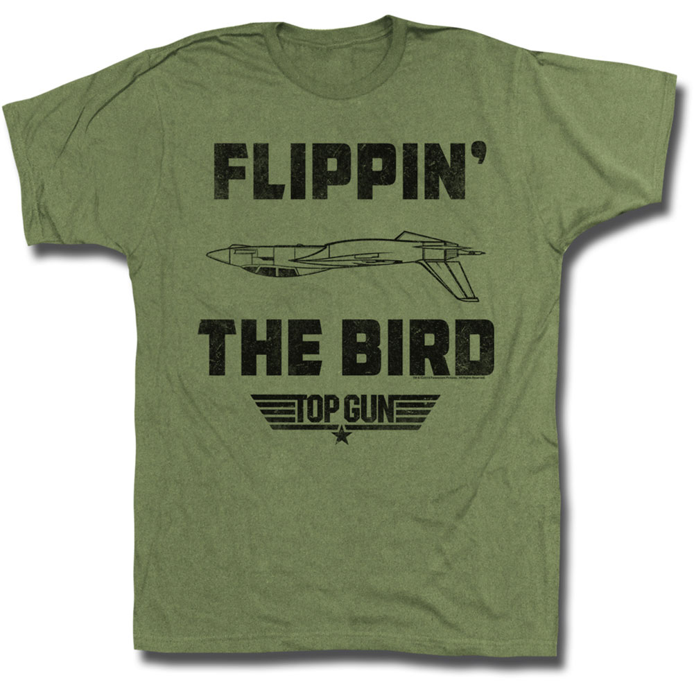 Top Gun Men's  Da Bird T-shirt Army Green