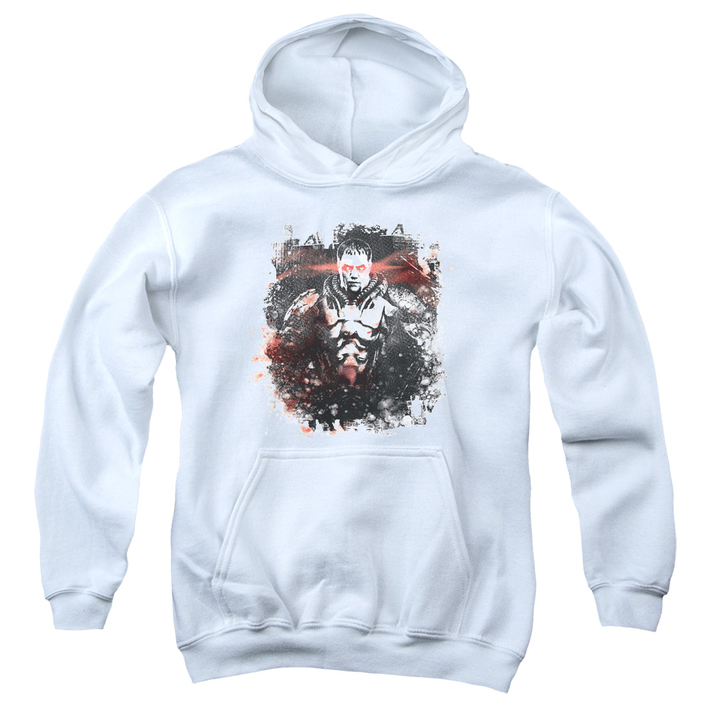 Man of Steel Superman Zod Stain Big Boys Pullover Hoodie