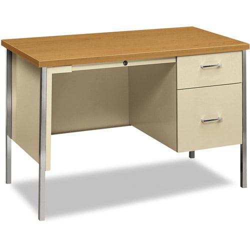 Hon 34000 Series Right Pedestal Desk, Harvest/Putty