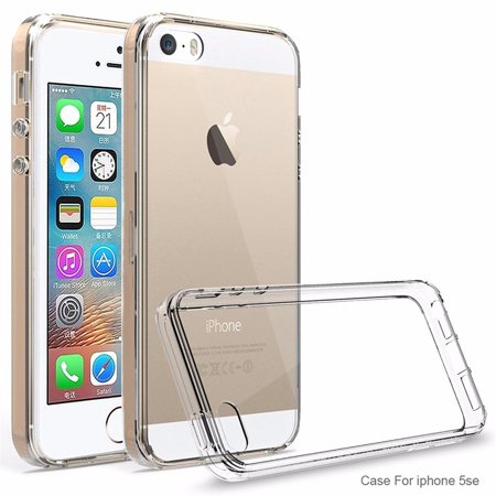 iPhone SE Case, iPhone 5 / 5S Case - Armatus Gear (TM) Ultra Slim Anti-Scratch Acrylic Clear Case with TPU Grip Bumper Hybrid Phone Cover for iPhone SE / iPhone 5 / 5S Natural Gear Hybrid