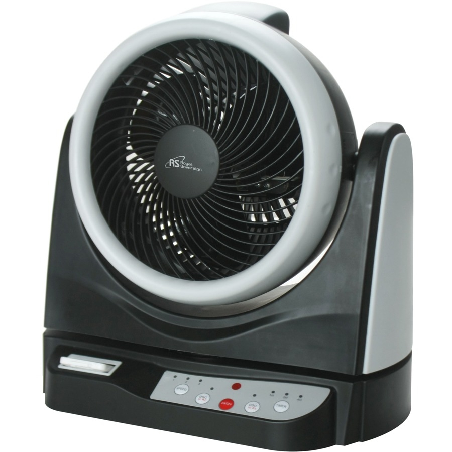 "Royal Sovereign 10"" Dual Oscillating Fan Rac-hv10br - Royal Sovereign-rachv10br-10""-dual Oscillating Fan-creates Vortex Of Air-3 Speed"
