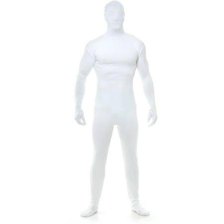 Adults Mens Womens White Team Spirit Bodysuit Costume