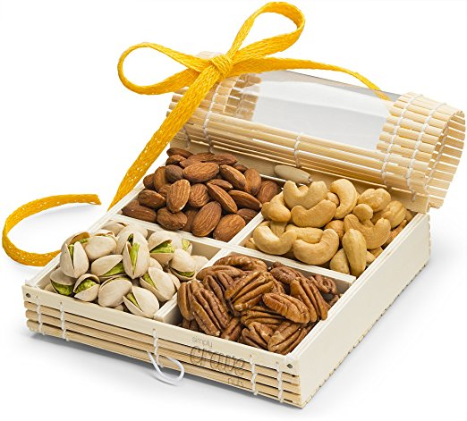 Simply Crave Nut Gifts, Gourmet Food Gift, Nuts Tray Gift Assortment, Classic Unsalted (Small)