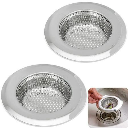 Kitchen Sink Strainer - 4.5 Inch Dia - Set of 2 Sink Strainers ...