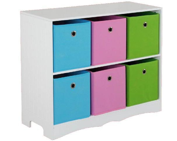 Home Basics Storage Shelf W 6 Bins by Home Basics