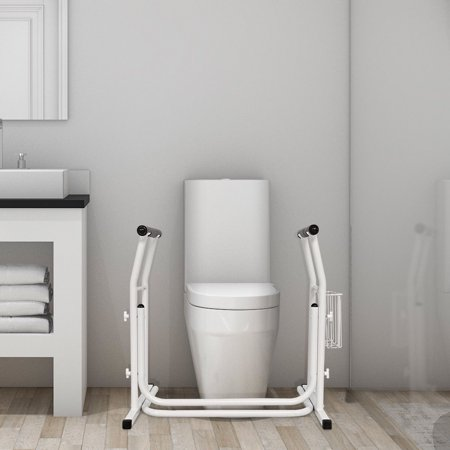 Medical Freestanding Stand Alone Toilet Safety Rail Padded