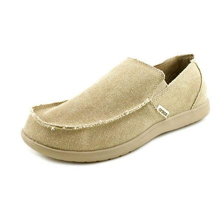 crocs santa cruz men round toe canvas tan loafer walmartcom