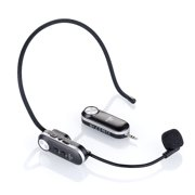 Tomshine Lightweight Portable Wireless Headset Microphone UHF Mic with Receiver Box Music Element System for Speaker Voice Amplifier