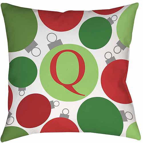 MWW, Inc. Thumbprintz Christmas Cheer Monogram Decorative Pillows