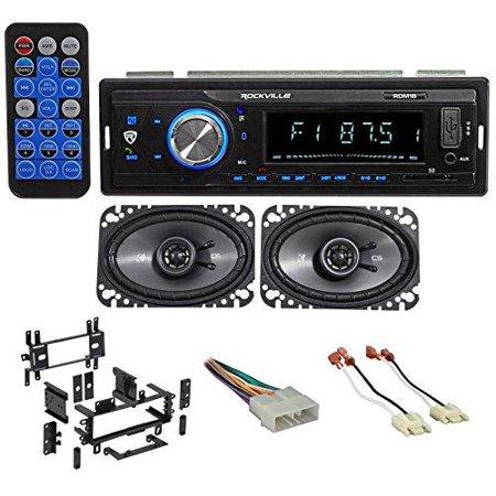 87-95 jeep wrangler yj car digital media receiver/radio+kicker front speakers ()