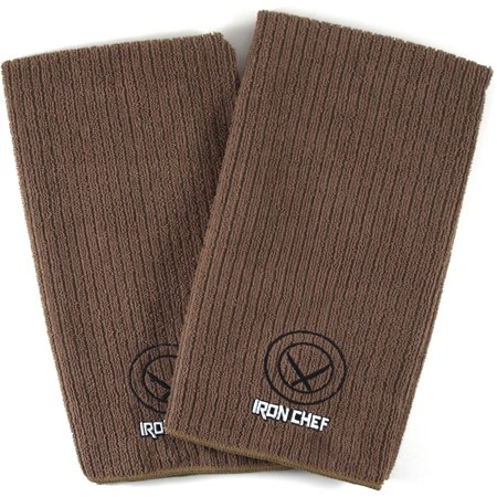 Iron Chef Brown 100% Cotton Kitchen Towel, Set of