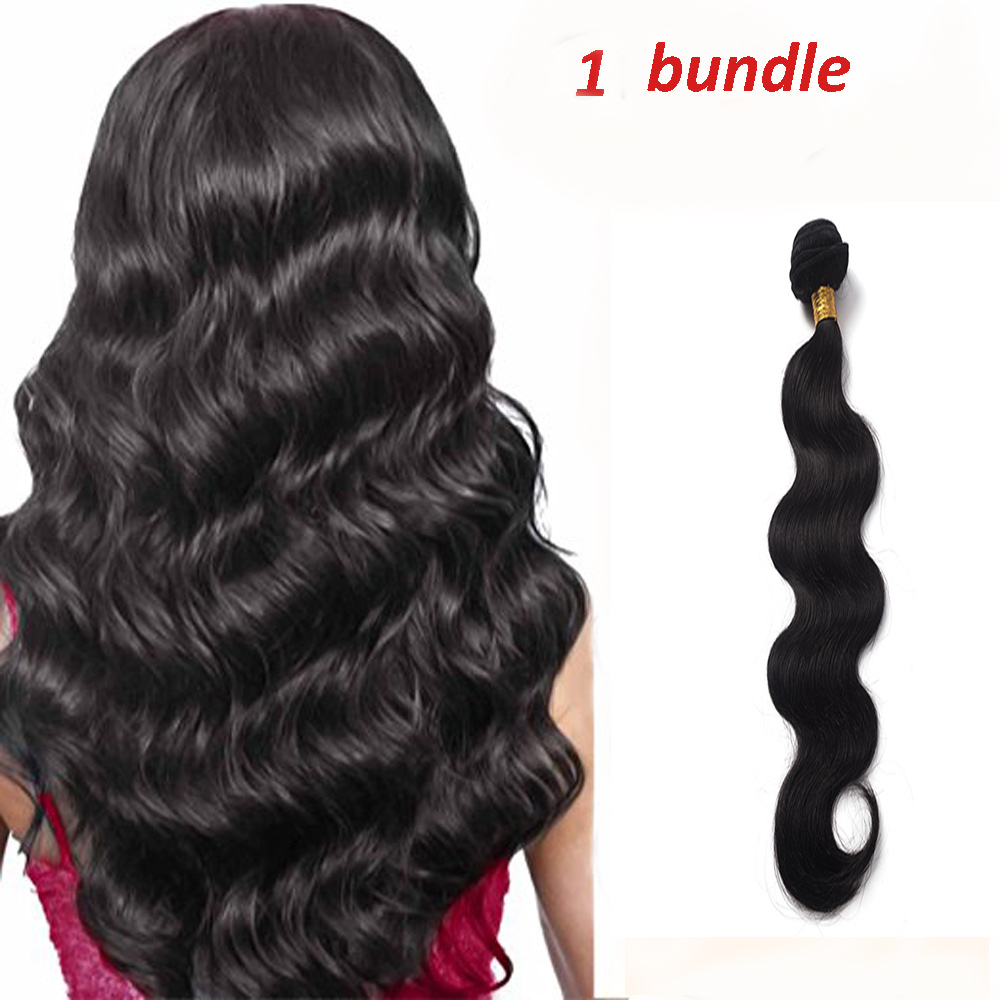 "FLORATA 12"" 14"" 16"" 18"" 20"" Clip in  Real Human Hair Wave 1 Bundles Hair Extensions Off Jet  Black 6A(Free gifts)"
