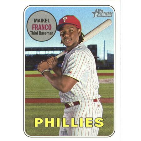 2018 Topps Heritage #132 Maikel Franco Philadelphia Phillies Baseball Card