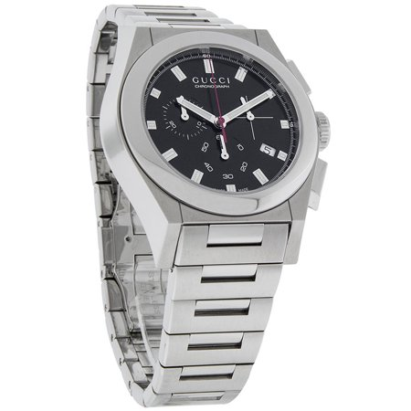 0448c50c152 Gucci - 115 Pantheon Mens Black Dial Swiss Chronograph Quartz Watch  YA115235 - Walmart.com