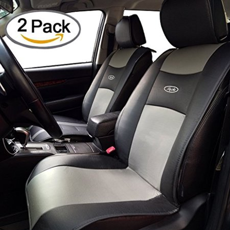 Waterproof Universal 2 Pcs Car Seat Cushion Covers Pu Leather Seat Protector Seats Mat By Big Ant   Fit For Car Truck Suv Or Van  Non Slip Rubber Soled   For Driver  Child  Baby Chair   Black