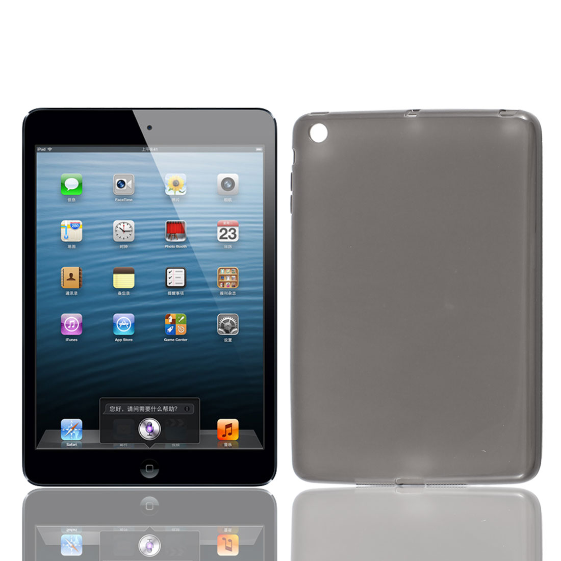 Unique Bargains Tablet TPU Protective Case Cover Shell Gray for Apple iPad Mini 7.9""