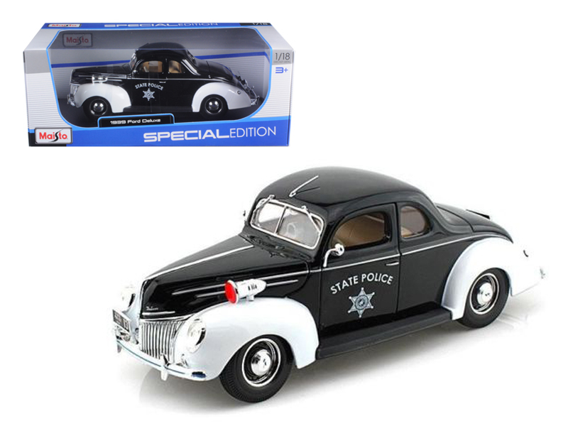 1939 Ford Deluxe Police 1 18 Diecast Model Car by Maisto by Diecast Dropshipper