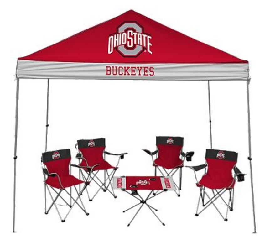 Ohio State University Buckeyes Tailgate Kit - Canopy - 4 Chairs - Table  sc 1 st  Walmart & Ohio State University Buckeyes Tailgate Kit - Canopy - 4 Chairs ...