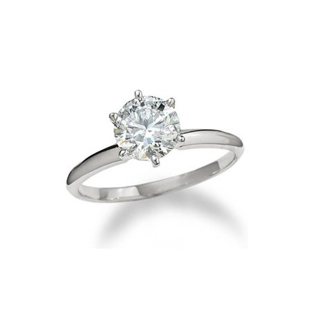 2 1/2ct Round Diamond Solitaire Engagement Ring 14K White Gold Enhanced