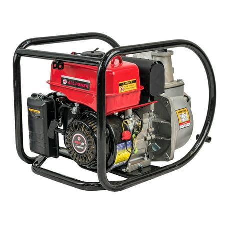 All Power 7 HP Gas Powered 3 inch Semi Trash Water Pump, 250 Gallon Per Minute, WP300