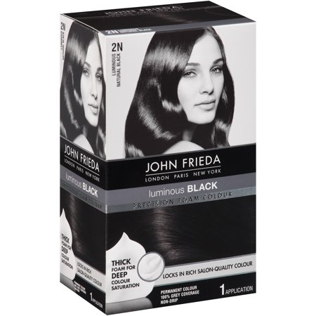 John Frieda® Precision Foam Colour Luminous Natural Black  2N Permanent Hair Colour 1 ct Box