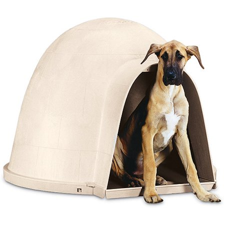 Petmate dogloo with microban walmartcom for Petmate dog house large