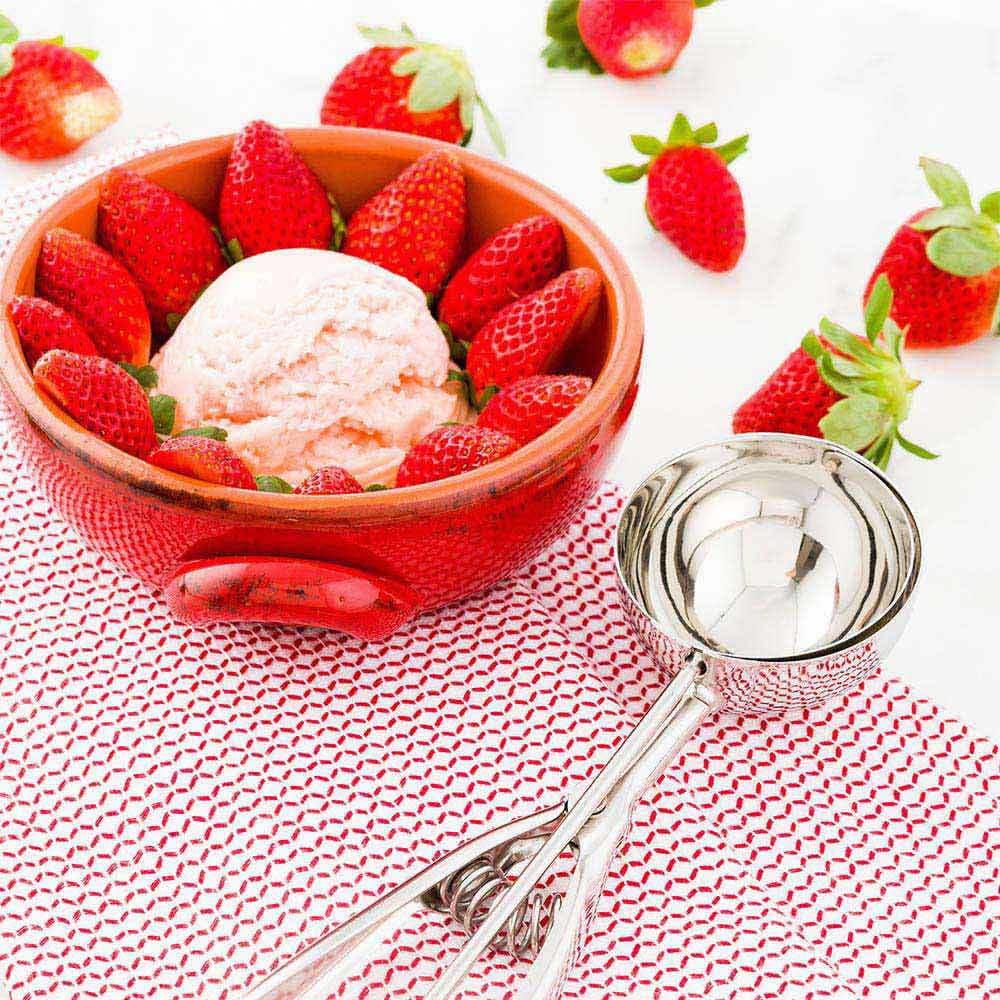 Restaurantware 1 Count box 3 oz Met Lux #10 Ice Cream Scoop, Large ...