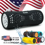 EMB Rechargeable Waterproof Bluetooth Speaker Outdoor Wireless Shower - White