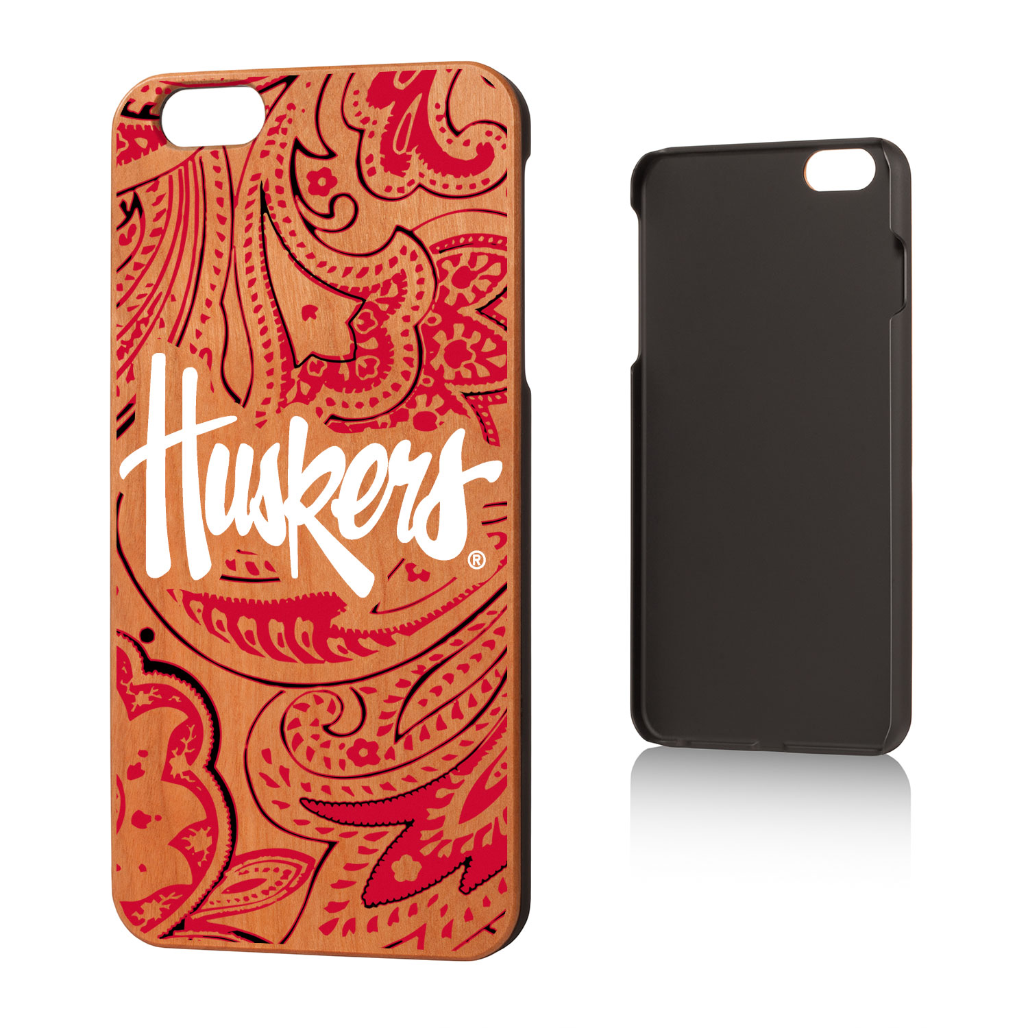 NU Nebraska Huskers Paisley Cherry Case for iPhone 6 Plus