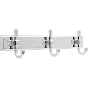 "Better Homes & Gardens Chandler 18"" Wall Mounted Hook Rack With 3 Hooks, Chrome"