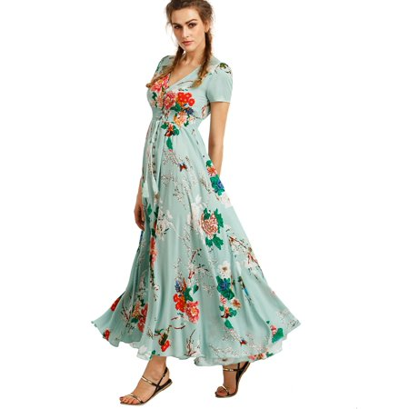 4381cd6614e Phoebecat - Light Green Flowy Summer dress