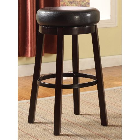 Roundhill Wooden Swivel Barstools, Bar Height, Set of 2,  Multiple Colors Available ()