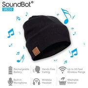 SoundBot SB210 HD Stereo Bluetooth 4.1 Wireless Smart Beanie Headset Musical Kni