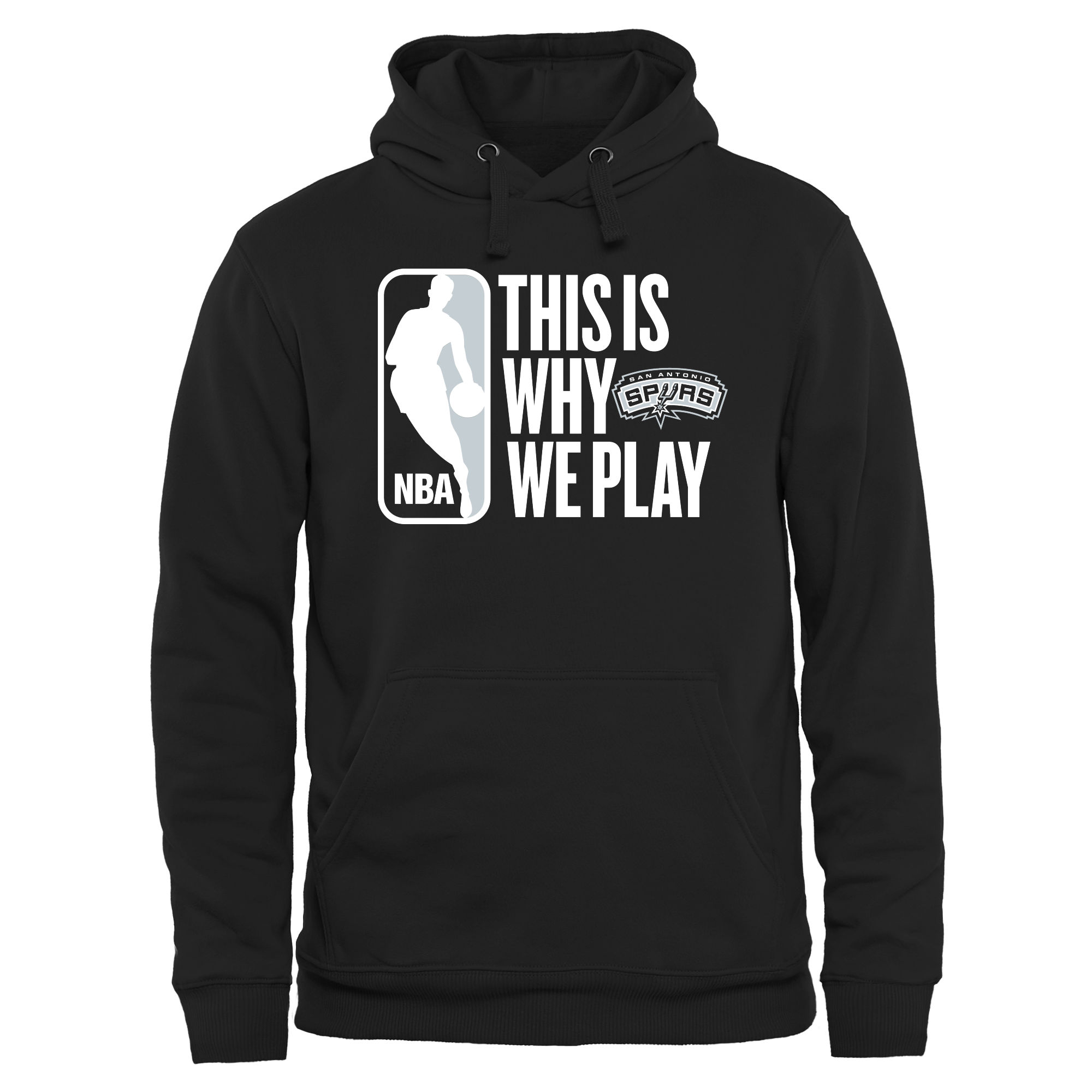 San Antonio Spurs This Is Why We Play Pullover Hoodie - Black