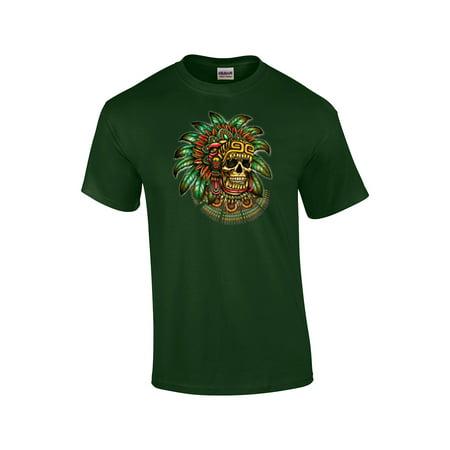 Aztec Warrior Skull T-Shirt - Skull Warrior