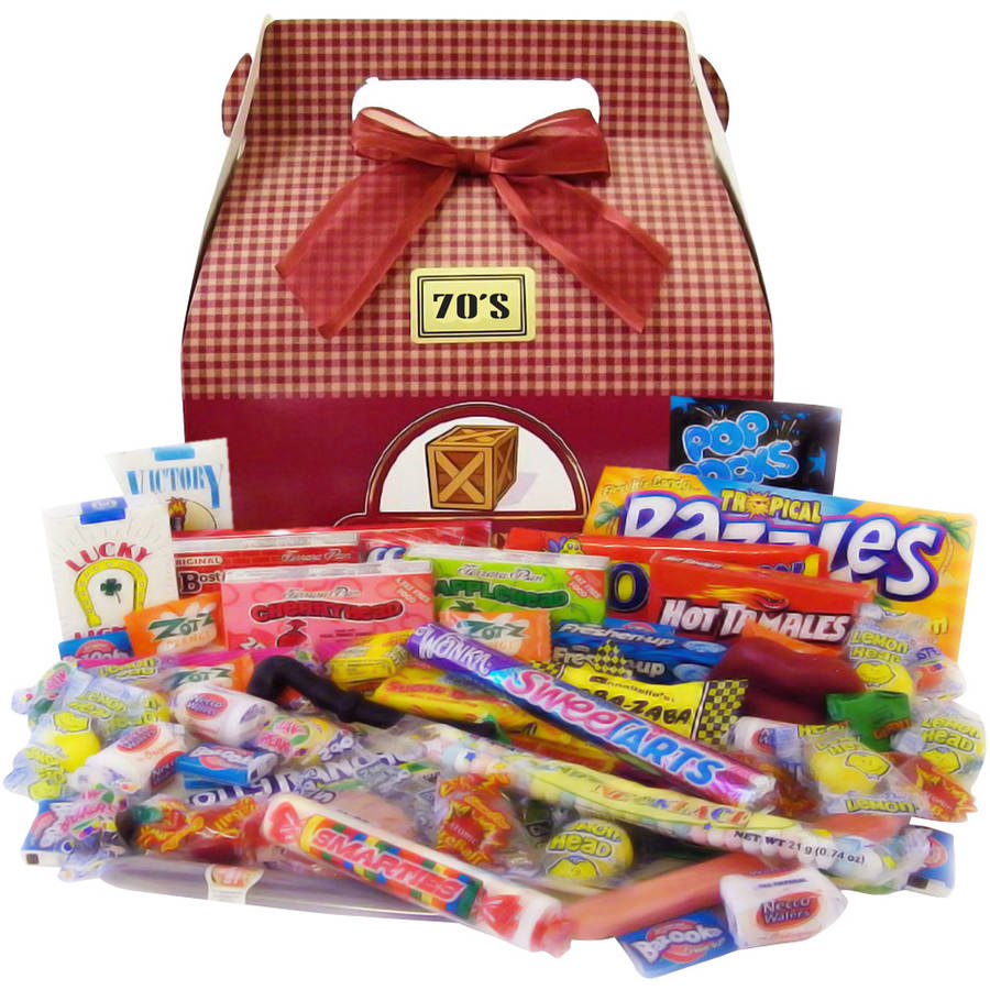 Candy Crate 1970's Retro Candy Gift Box, 2.5 lbs
