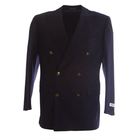 PAL ZILERI Wool Double Breasted Two Button Blazer (3 Button Black Wool Suit)