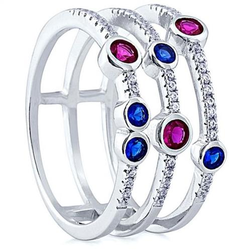 Doma Jewellery SSRZ6746 Sterling Silver Ring With Micro Set CZ, Size 6