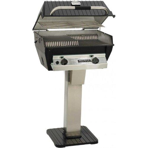 Broilmaster R3bn Infrared Combination Natural Gas Grill On Stainless Steel Patio Post