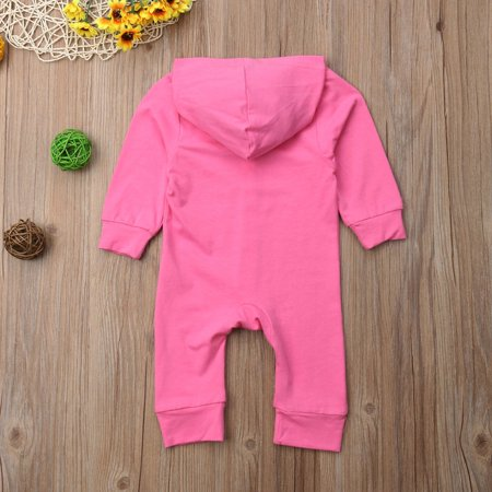 Baby Boys Girls Soft Cotton Long Sleeved Hooded Single-breasted Romper Cute Infant Jumpsuits Kids Sleepwear - image 3 of 7