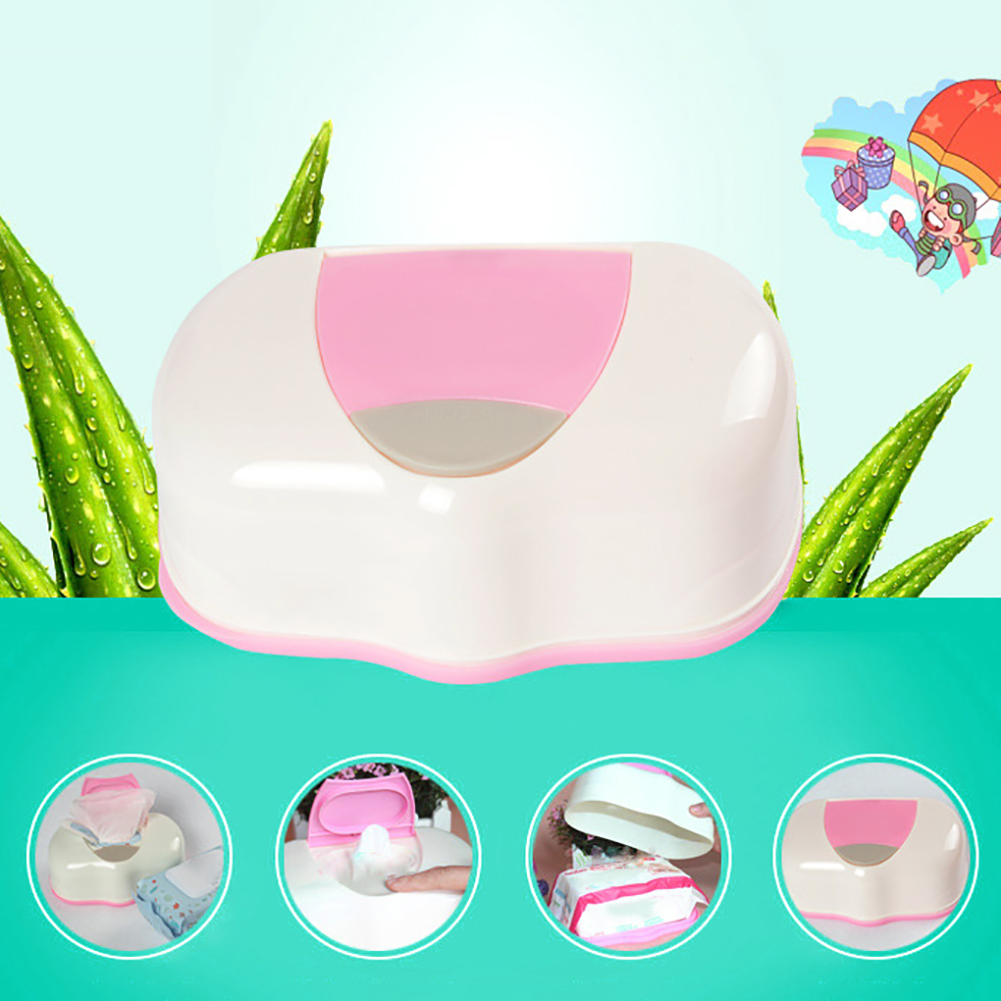 Girl12Queen Home Car Press Pop-up Automatic Baby Wipes Wet Tissue Box Case Holder Organizer