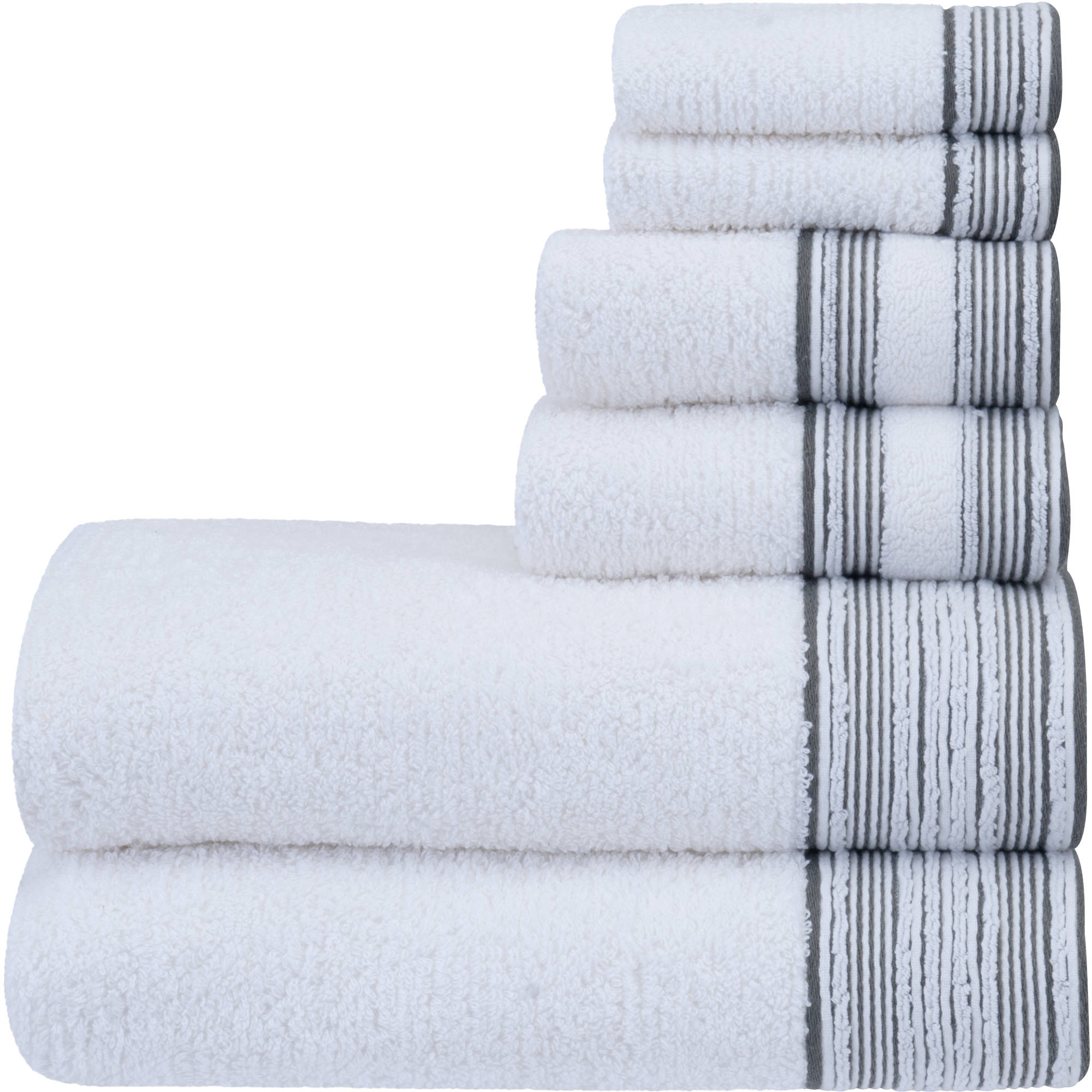 Better Homes U0026 Gardens 6 Piece Towel Set   Cuff