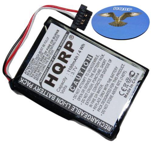 HQRP Battery for Magellan RoadMate 2000 2200T 2250T 9212T-LM GPS Navigator + HQRP Coaster